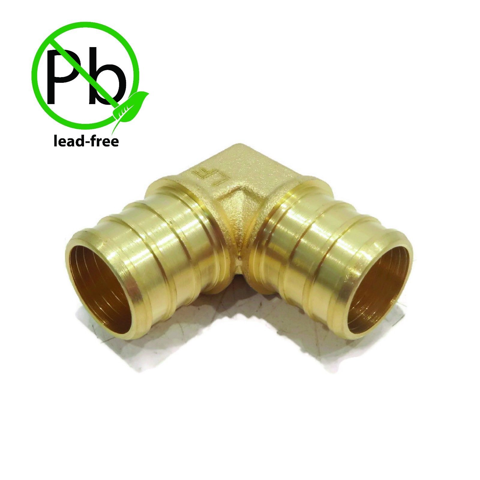 "3/4"" x 3/4"" PEX 90° BRASS LEAD FREE ELBOW Crimp Fitting replaces Everhot BPF6805 by The ROP Shop"
