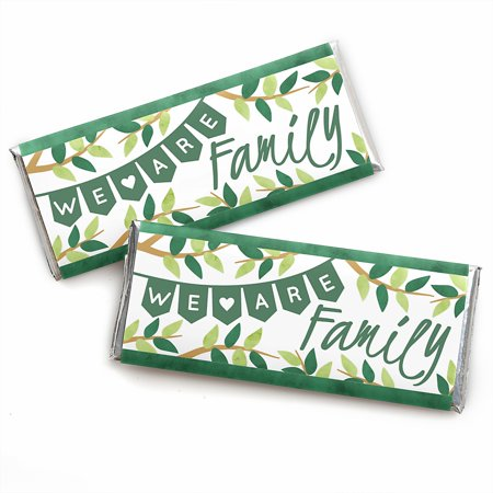 Tree Trimming Party (Family Tree Reunion - Candy Bar Wrapper Family Gathering Party Favors - Set of 24 )
