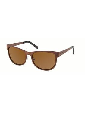Cynthia Rowley No. 80 Unisex Brown Square Sunglasses