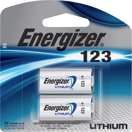(Energizer 123 Lithium Photo Battery, 2-Pack)
