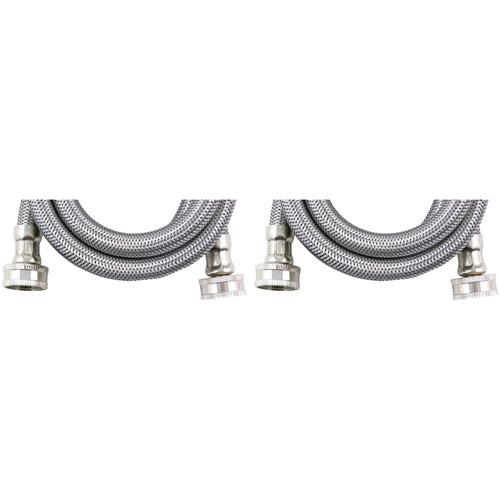 Savard Braided Stainless Steel Washing Machine Connector, 2-Pack