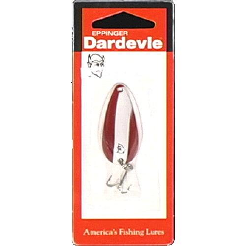 Dardevle Spinner Spoon, Red/White