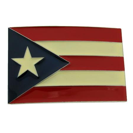 Puerto Rico Usa Flag Bandera puertorriquena Puertorriqueno San Juan Belt Buckle ()