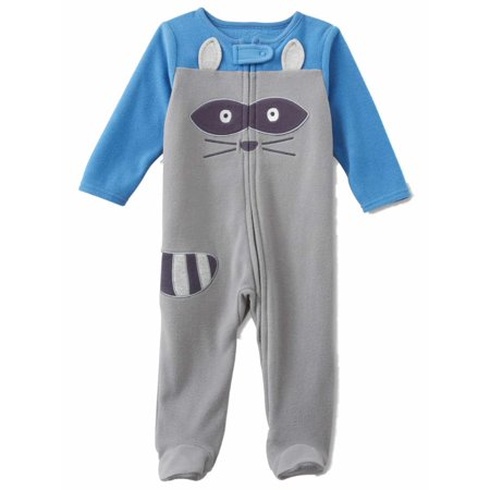 b7810ad0f Little Wonders - Infant Boys Gray Fleece Raccoon Blanket Sleeper ...