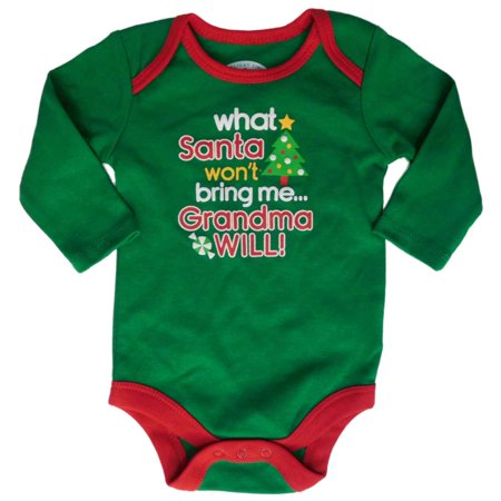 Infant Boys What Santa Won't Bring Me Grandma Will Creeper Holiday Bodysuit