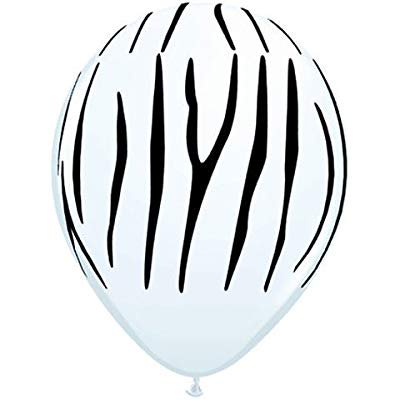 Black And White Striped Balloons (qualatex 11 zebra stripes around balloons (10)