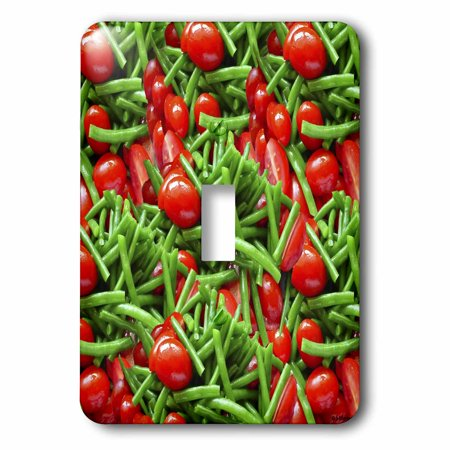 3dRose Green Bean Tomato Salad Collage - Single Toggle Switch (lsp_6240_1)](Halloween Green Bean Salad)