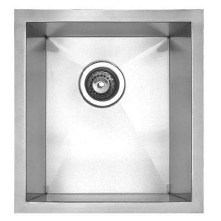 Noahs Single Bowl (Whitehaus Noahs Collection 15 in. Chefhaus Series Single Bowl Undermount Sink )