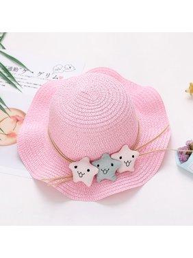 Casual Fashion Baby Cap Kids Toddler Cute Cartoon Sunscreen Straw Hat Children's Gift
