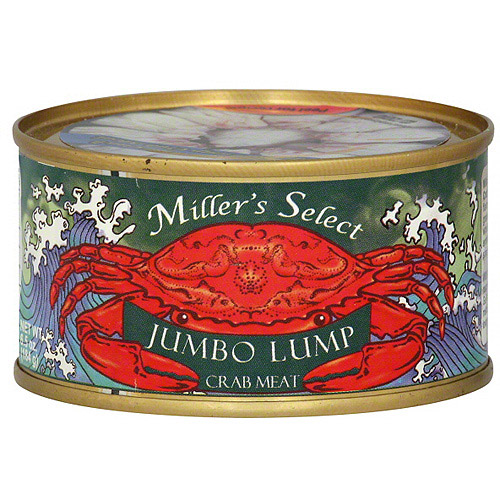 Miller's Select Jumbo Lump Crab Meat, 6.5 oz (Pack of 12)
