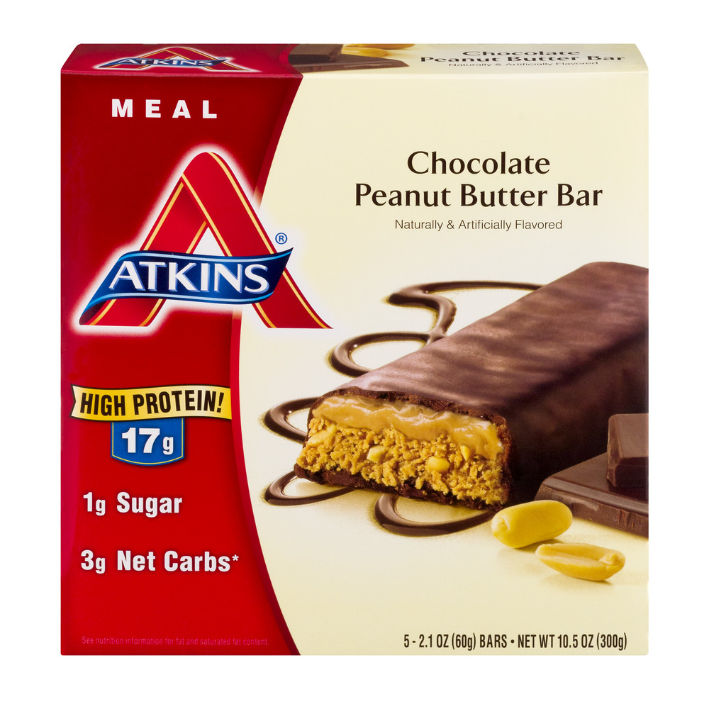 Atkins Meal Chocolate Peanut Butter Bars 5-pack