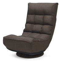Costway 360  degree  Swivel Folding Game Chair Floor Lazy Sofa Chair 4-Position Adjustable