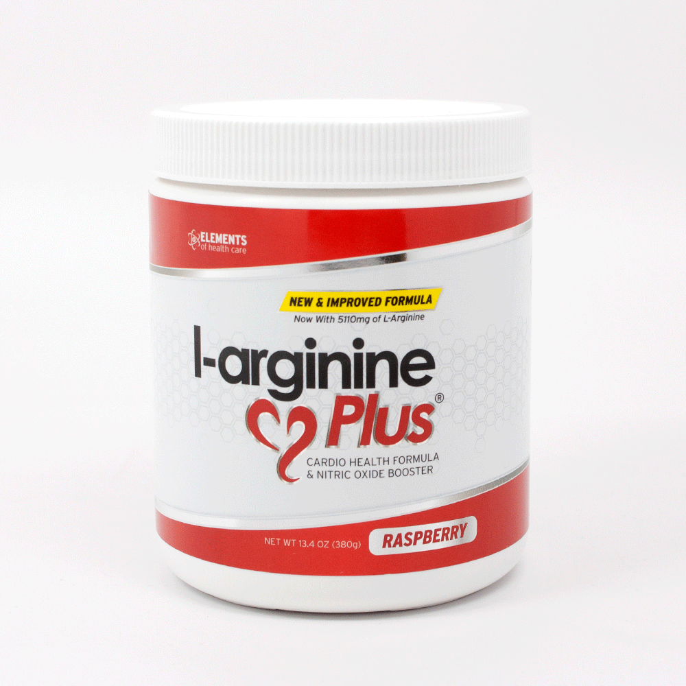 L-arginine Plus - Raspberry Flavor - #1 L-arginine Supplement - 5110mg L-arginine & 1010mg L-citrulline Vitamins & Minerals to Support Blood Pressure, Cholesterol and More 13.4 ounce