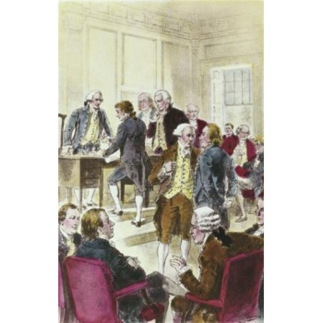 Posterazzi SAL900126150 Signing the Declaration of Independence July 4th 1776 Henry Alexander Ogden 1856-1936 American Poster Print - 18 x 24 in. - image 1 of 1