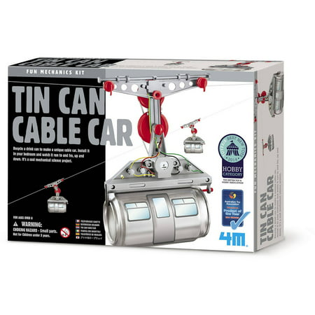 4M Tin Can Cable Car, 1 Each -