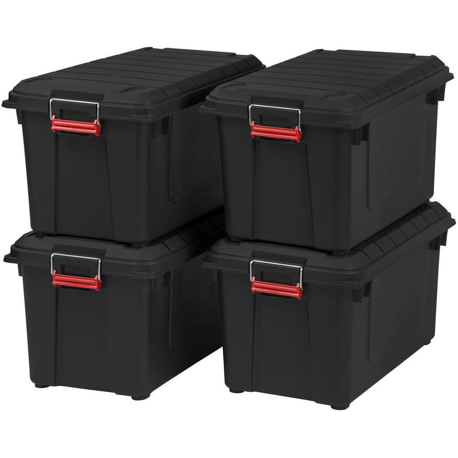 IRIS 82 Quart WEATHERTIGHT Store-It-All Tote, 4 Pack
