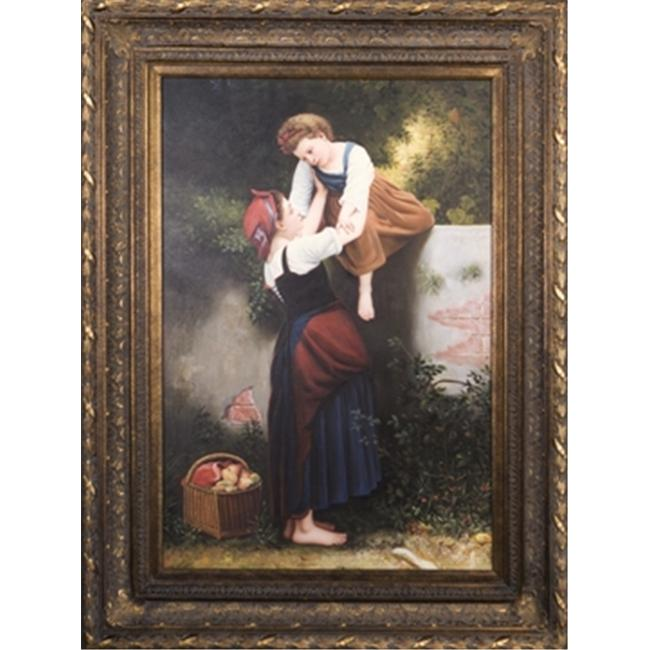 Artmasters Collection PA88983B-668DG A Helping Hand Framed Oil Painting