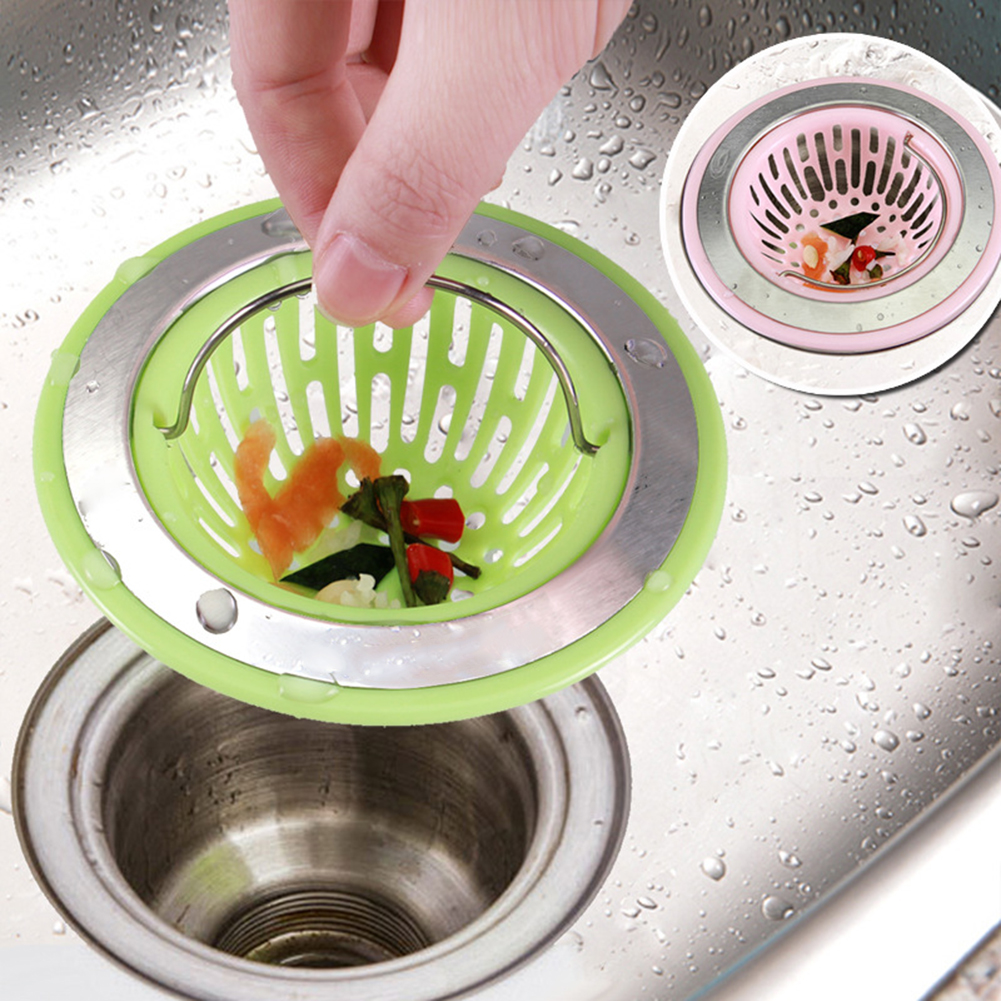 Heepo Kitchen Bathroom Sink Sewer Filter Basket Floor Drain Stopper Strainer Tool