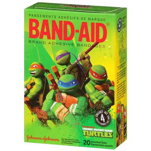 BAND-AID Adhesive Bandages, Teenage Mutant Ninja Turtles, Assorted Sizes 20 ea (Pack of 4)