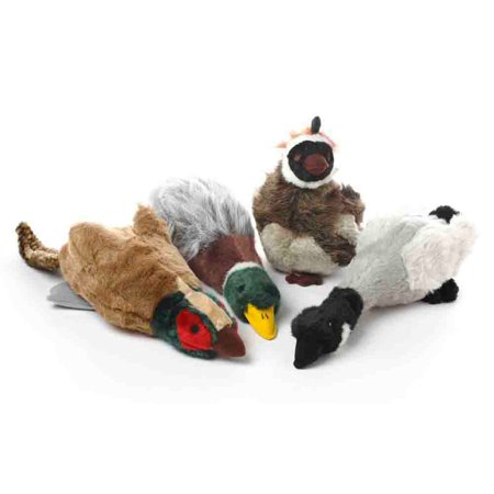 Multipet Migrators Plush Hunting Birds Honkers Interactive Dog Toy Assorted Md