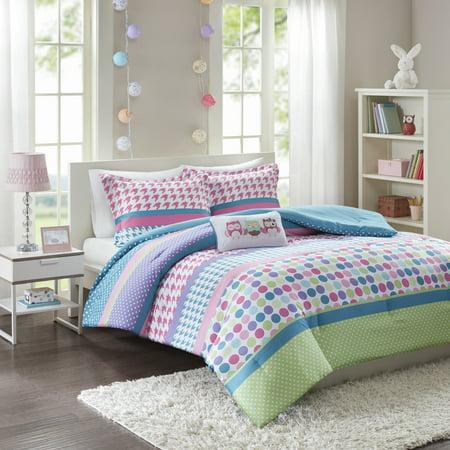 home essence teen linda printed comforter bedding set. Black Bedroom Furniture Sets. Home Design Ideas