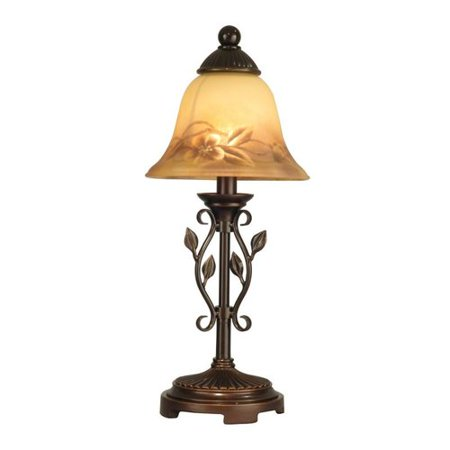 dale tiffany leaf vine h table lamp with bell shade walmart. Black Bedroom Furniture Sets. Home Design Ideas