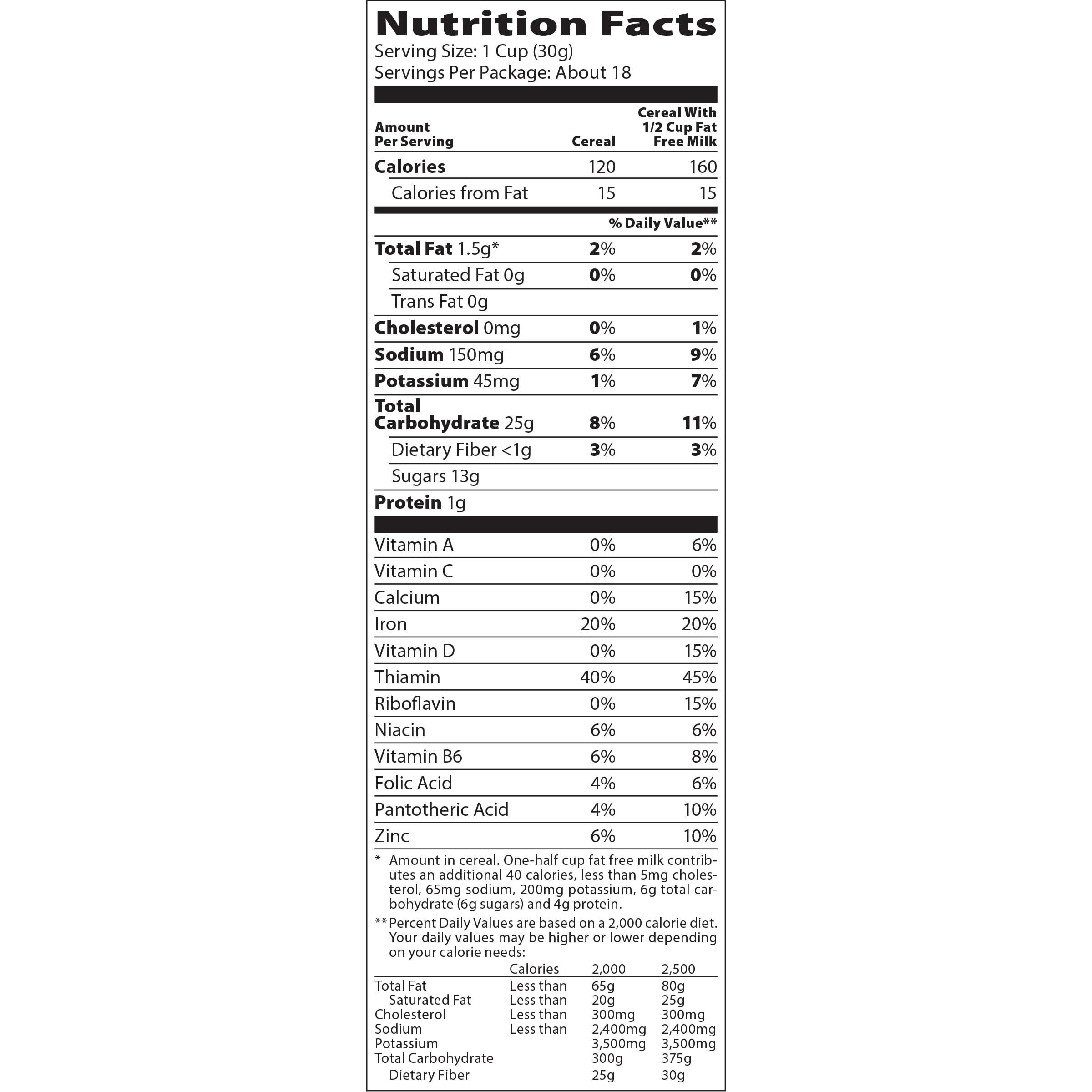 Oreo O S Nutrition Label