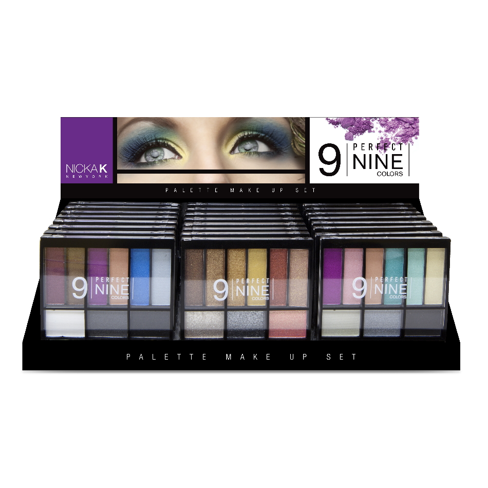 NICKA K New York Eyeshadow  Palette Perfect 9 Colors Display Set 24 Pieces - image 1 of 1