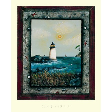 Coastal Harbor Light by Jessica Fries 14x11 Art Poster (Coastal Harbor Light)
