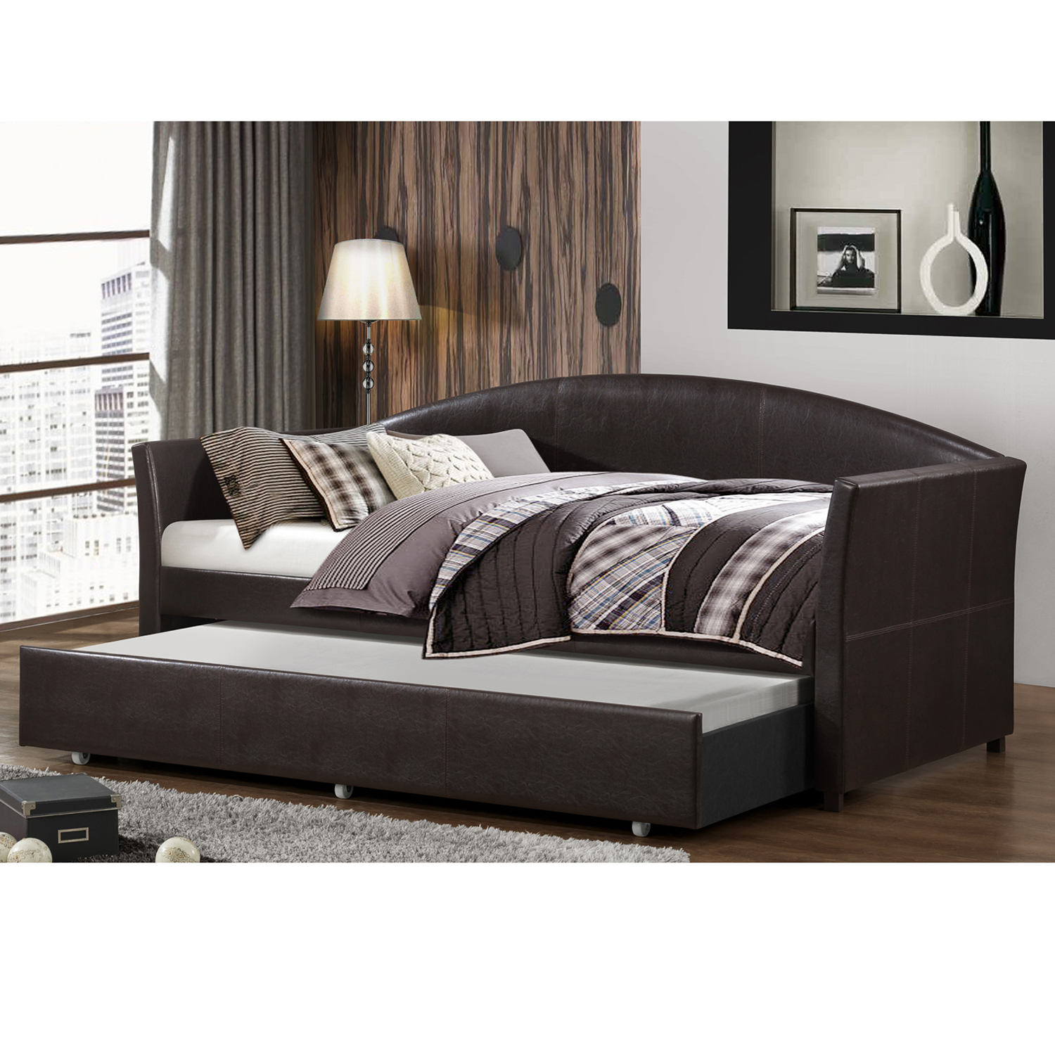 Home Source Espresso Day Bed by Home Source