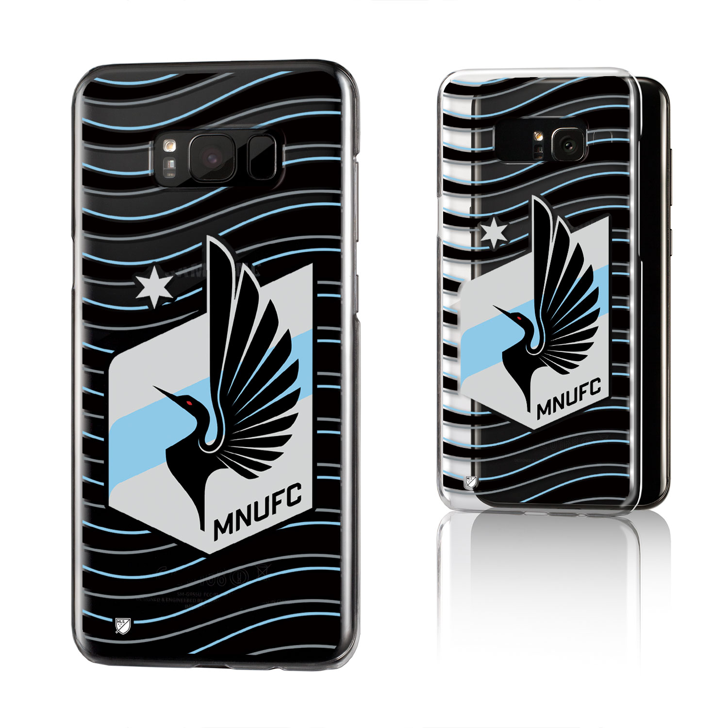 Minnesota United FC MNUFC Wave Clear Case for Galaxy 8+