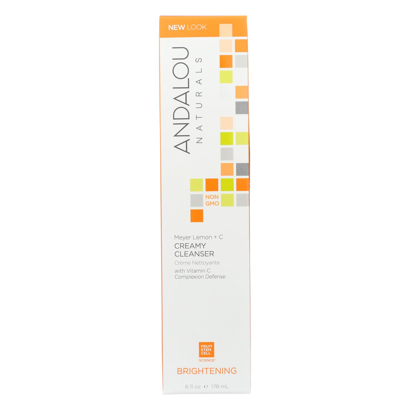 Andalou Naturals Creamy Cleanser, 6 Fl Oz Stratford EFA Deodorizing Creme Rinse Sweet Pea & Vanilla 12 oz