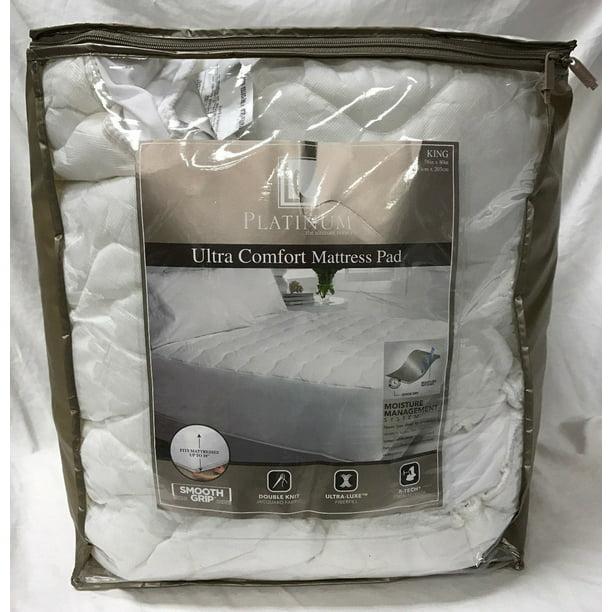 Platinum King Size Ultra Comfort Mattress Pad 76 X 80 New Walmart Com Walmart Com