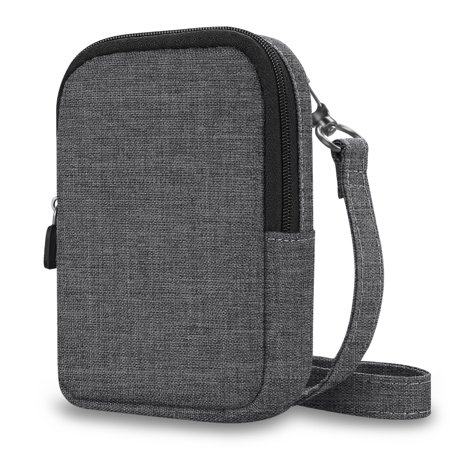 Fintie Protective Case for Kodak PRINTOMATIC Digital Instant Print Camera - Fabric Soft Pouch w/ Strap, Denim Charcoal