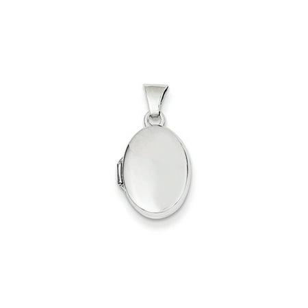 13mm Polished Oval Locket in 14 Karat White Gold 14k Gold Oval Coral