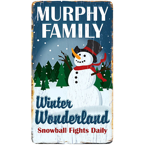 Personalized Winter Wonderland Metal Sign