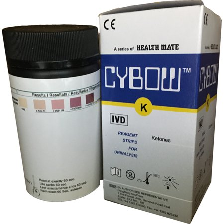 100 Count - Ketone Test Strips For Keto Diet, Diabetics and Ketogenic Measurement CYBOW ()