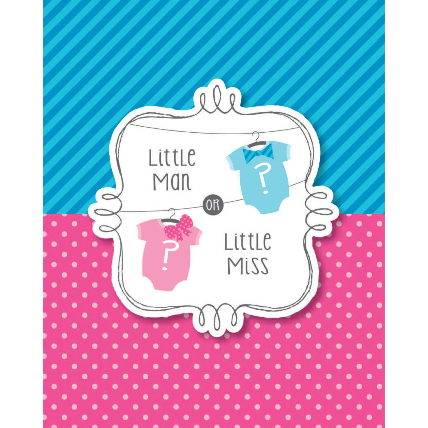 Club Pack of 48 Bow or Bowtie? Paper Baby Shower Invitation Cards
