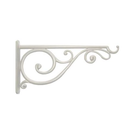 Victorian Gingerbread Brackets (Panacea Products 85014 14-In. White Victorian Scroll Hanging Plant Bracket )