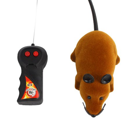 Hilitand Rat Mouse Mice Toy Wireless Remote Control RC Electronic Rat Mouse Mice Toy For Cat Puppy Xmas Gift Brown ()