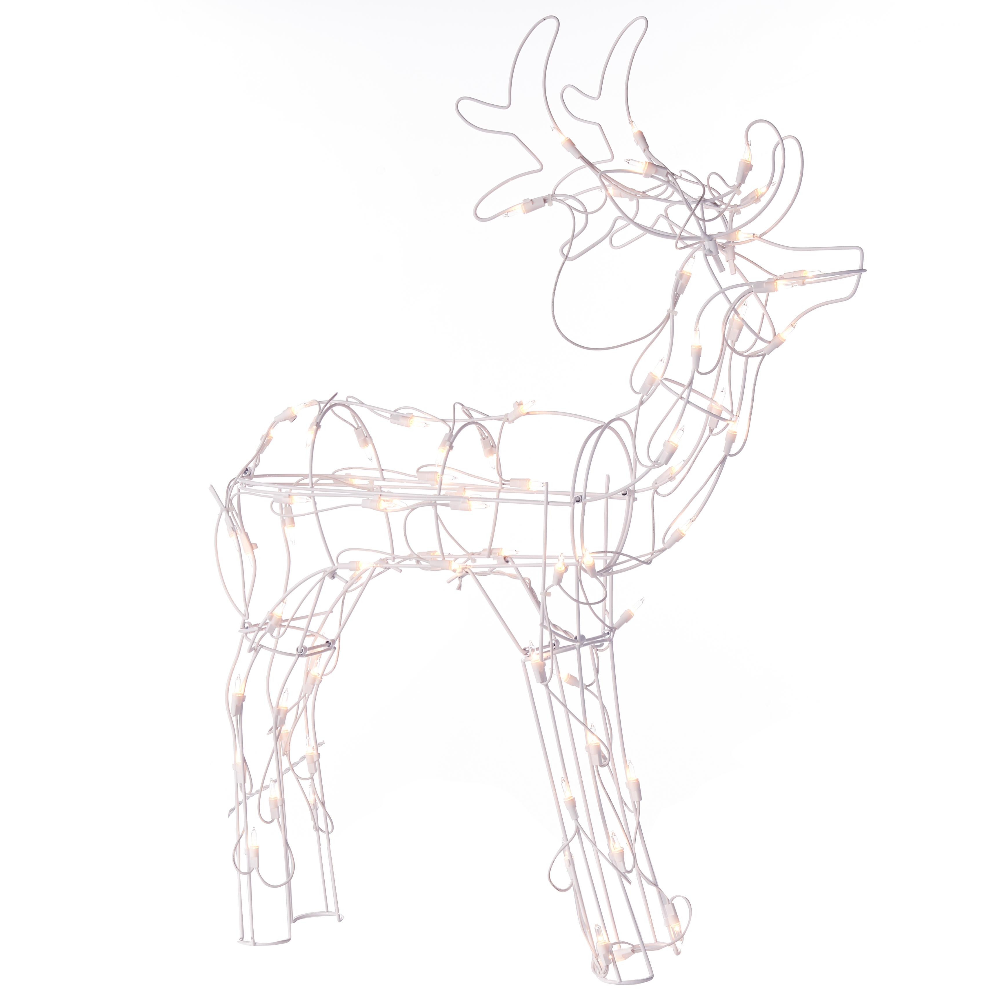 Holiday Time 30-Inch Light-Up Buck, Indoor or Outdoor Use, 70 Lights