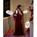 "71"" Life Size Hanging Animated Talking Witch Prop Decor"