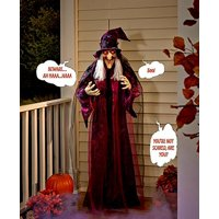 71-inch Life Size Hanging Animated Talking Witch Prop Decor Deals