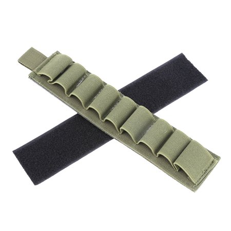 Yosoo Shell Holder Card,4 Colors Nylon 9 Rounds Shell Shotgun Buttstock Ammo Carrier Holder With Adhesive Backing Strip,Ammo (Non Lethal Shotgun Rounds For Home Defense)