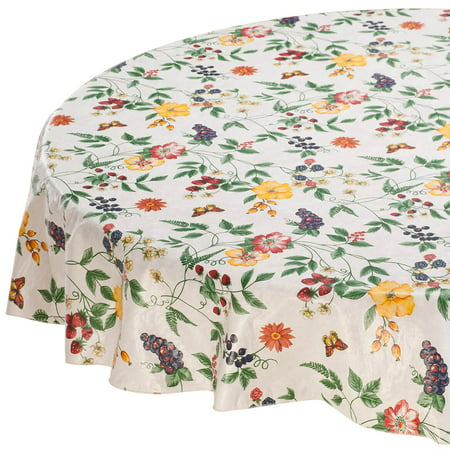 Enchanted Garden Premium Vinyl Tablecover 70