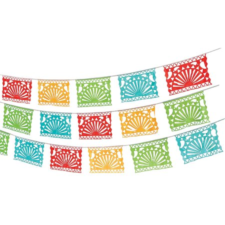 Fun Express - Fiesta Cutout Garland for Cinco de Mayo - Party Decor - Hanging Decor - Pennants - Cinco de Mayo - 1 Piece](Fiesta Garland)