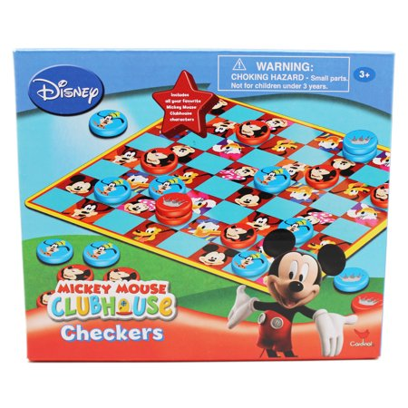 Disney's Mickey Mouse Clubhouse Mickey and Goofy Kids Checkers Set - Mickey Mouse Halloween Matching Game
