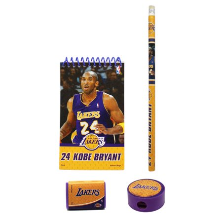 NBA Basketball #24 Kobe Bryant Themed School Supplies Set (4pc)