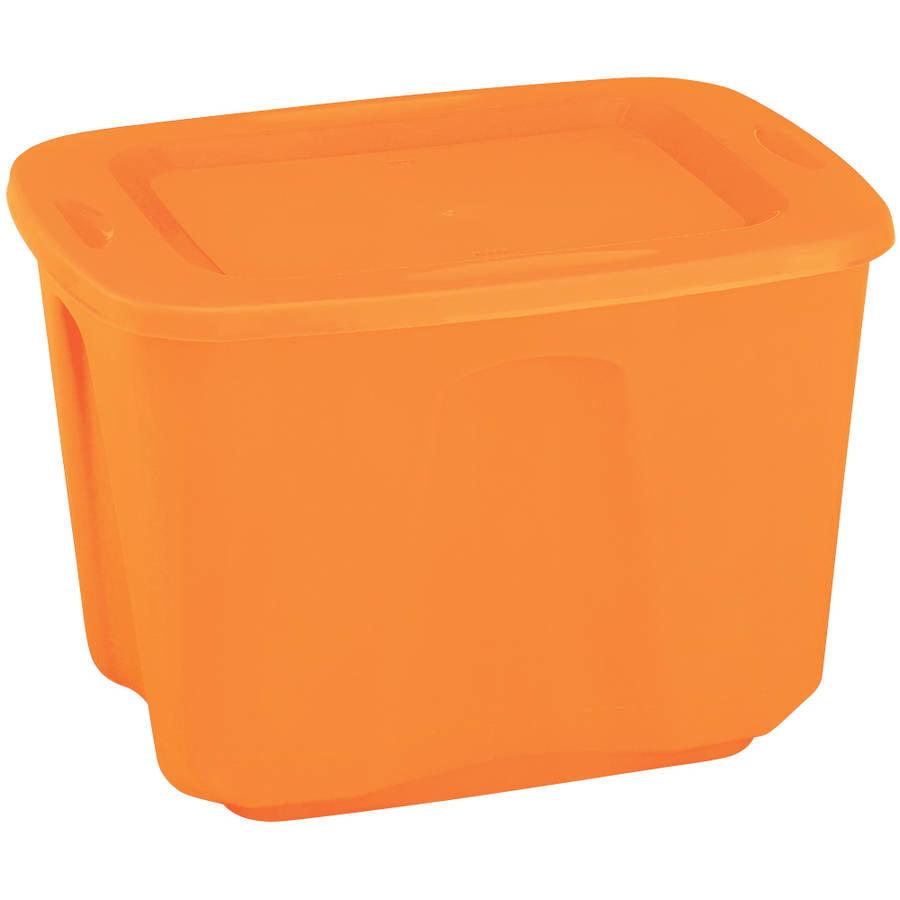Homz 18-Gallon Orange Tote, Set of 8 - Walmart.com
