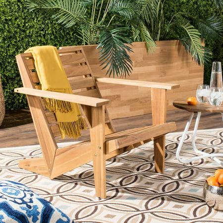 Safavieh Lanty Outdoor Glam Wooden Adirondack Chair ()